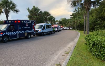 Emergency Transport Vehicles Deployed to Assist with Myrtle Beach Evacuations